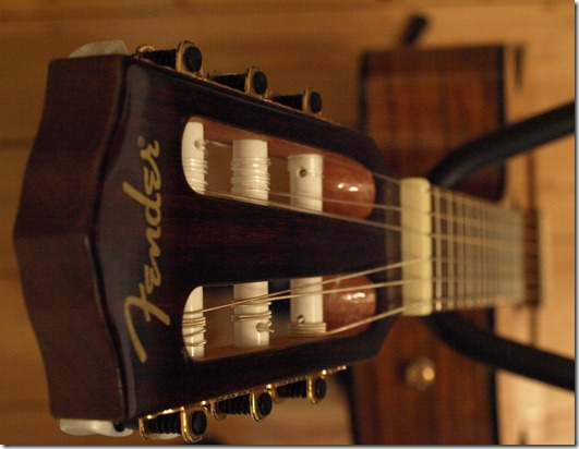 Kopf der Gitarre