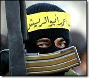 Bild eines Terroristen mit AK47