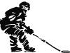 eishockey spieler stilisiert